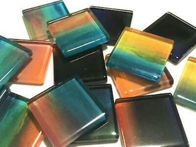 Handmade Watercolour Glass Mosaic Tiles 2.5cm Pattern 14 - Craft Art Supplies