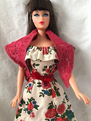 Vintage Barbie Doll BEST BUY Outfit 9160 ROSES Dress With Pink Lace SHAWL Nice!