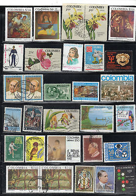 Colombia  Stamps Canceled Used       Lot 36734