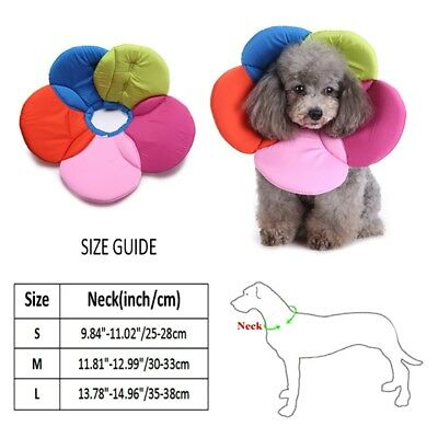 Pet Elizabethan Collar Dog Cat Soft Cone Recovery E-Collar Bite-Proof Protector