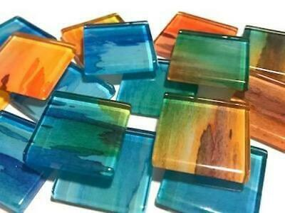 Handmade Watercolour Glass Mosaic Tiles 2.5cm Pattern 3 - Craft Art Supplies