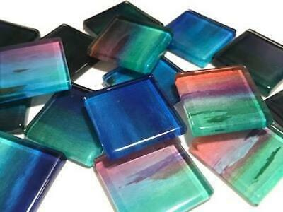 Handmade Watercolour Glass Mosaic Tiles 2.5cm Pattern 7 - Craft Art Supplies