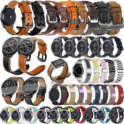 Soft Genuine Leather/Silicone Watch Strap For Samsung Galaxy Watch Band 42 46mm