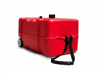 12 Gallons Portable Fuel Tank w/Pull Strap & Wheels