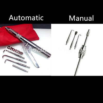 Dental Manual Crown Remover with Attachments Tips Button Surgical Gun Instrument