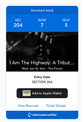 I Am The Highway: A Tribute to Chris Cornell, Section 204, SOLD OUT SHOW!