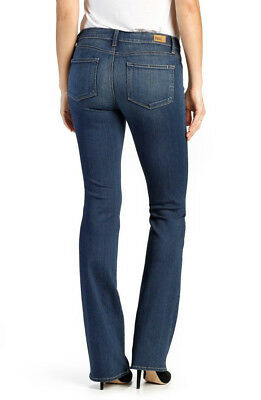 00451482 NWT PAIGE Transcend Manhattan Mid-Rise Slim Boot Bootcut Jeans Size 30 in  Trina