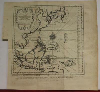 East Indies Japan China Southeastern Asia 1746 Bellin/schley Antique Sea Chart