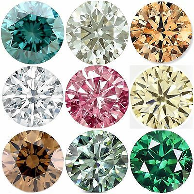loose moissanite Genuine Brilliant Round Cut Mixed Color 0.50 to 4.00 ct VVS1/2