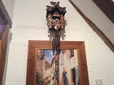 Cukoo clock Black Forest hand carved