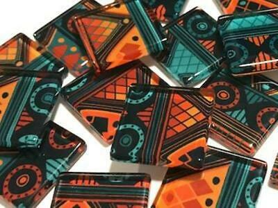 Tribal Inspired Glass Mosaic Tiles 2.5cm Pattern 1 - Art Craft Supplies