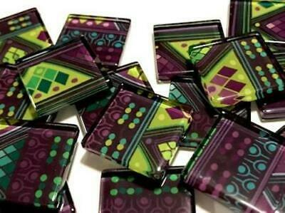 Tribal Inspired Glass Mosaic Tiles 2.5cm Pattern 12 - Art Craft Supplies