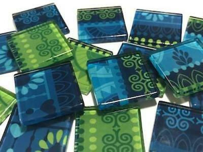 Tribal Inspired Glass Mosaic Tiles 2.5cm Pattern 13 - Art Craft Supplies