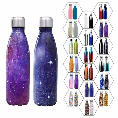 Vacuum Flask Double Wall Stainless Steel Insulated Water Bottle Drinking Cup