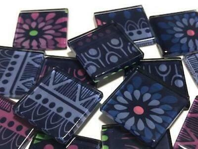 Tribal Inspired Glass Mosaic Tiles 2.5cm Pattern 18 - Art Craft Supplies