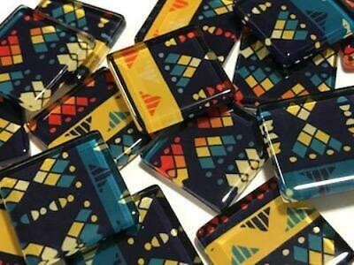 Tribal Inspired Glass Mosaic Tiles 2.5cm Pattern 6 - Art Craft Supplies