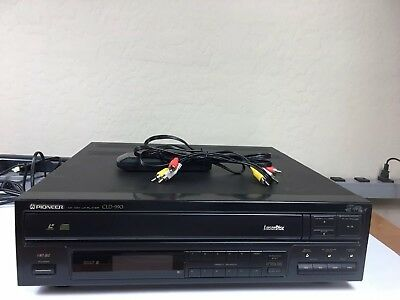 Vintage 1992 Pioneer CLD-990 Laserdisc Player. Serviced! Works Great With Remote