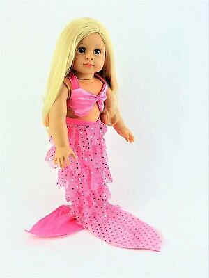 Hot Pink Mermaid 2-PC Outfit | Fits 46cm American Girl Dolls, Madame