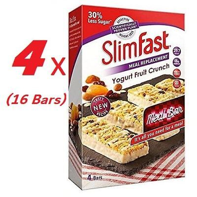 SlimFast Yoghurt Fruit Crunch Meal Replacement Bars 56g x16