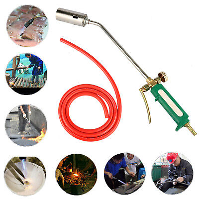 Dual Switches Stainless Steel Spray Gun Nozzle Propane Torch Head Liquid Gas