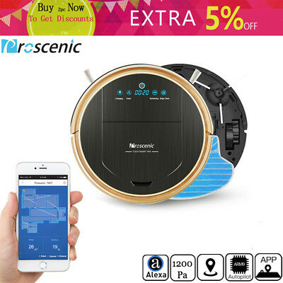 WIFI Robotic Vacuums Cleaner Proscenic 790T Floor Dry Wet Mop Sweep Water Tank