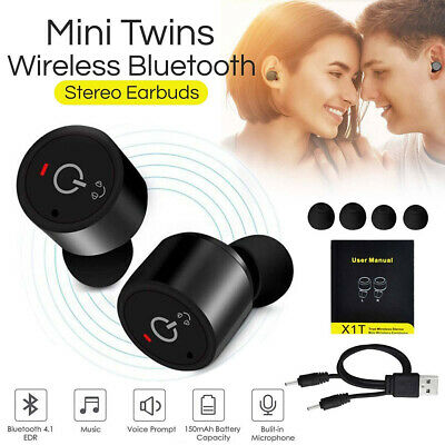 Twins Bluetooth Headphone True Wireless Headset Stereo Earphone Ear Hook Earbuds