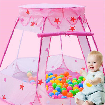 Child Ocean Ball Tent Toy Outdoor Indoor Baby Fairy House Princess Play Tent AT