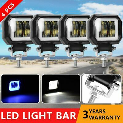 4x CREE LED Work Light 12V 24V Fog Lamp Bar Flood Offroad Motorcycle 4WD ATV