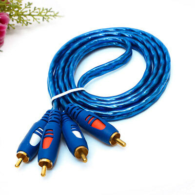 65B1 5M 2RCA To 2RCA Video Audio DVD Radio TV Computer CD Player Connector Cable