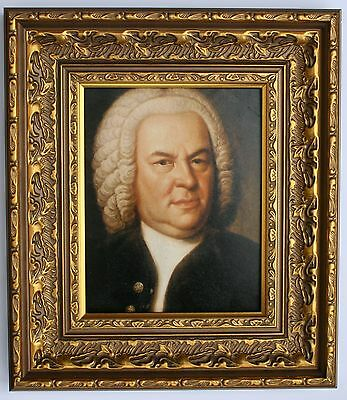Bach Framed Oleograph R513#E Reproduction Picture , Music, Composer