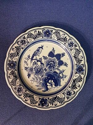 Vintage Wall Hanging Delft Blauw China Plate   Hand Painted Holland 9inch