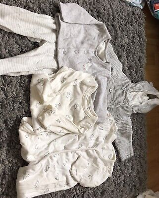 M&S Bundle of Unisex clothes first size/up to 1 mth