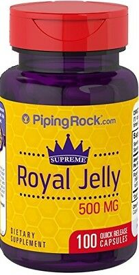 Supreme Royal Jelly 500mg x 100 Capsules PipingRock - 24HR DISPATCH