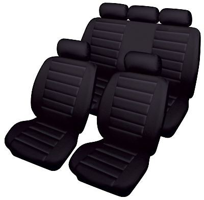 Black Leatherlook Front & Rear Car Seat Covers for Ford Kuga 08-12