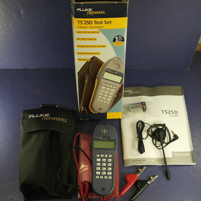 New Fluke TS25D Test Set Kit, Box, Pouch, Headset!