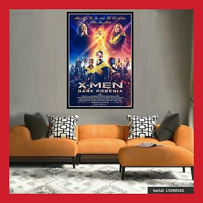 Toile Coton Affiche Us 2019 Cinema Sortie Film Poster Xmen X-Men Dark Phoenix
