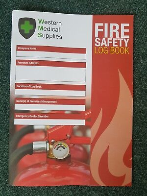 Fire Safety Log Book - A4 - Brand New Ideal for all businesses FREE POSTAGE