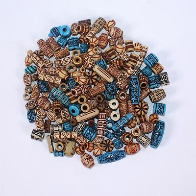 Tribal Coloured Plastic Beads for Jewellery Making Pack of 130