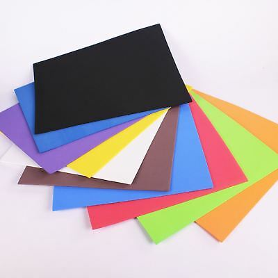 Coloured Neoprene Sheet Modelling Foam Easy Cut for Kids Craft Pack of 10 Pieces