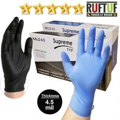 Extra Strong Black Nitrile Powder & Latex Free Disposable Gloves Tattoo Mechanic