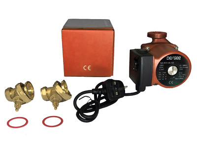 AC15-60-130 Domestic Heating Circulator Pump (130mm) with Brass Gate Valve Set