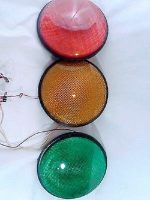 """.12"""" LED Traffic Stop Light Signal Set of 3 Red Yellow & Green Gaskets 120V ...."""