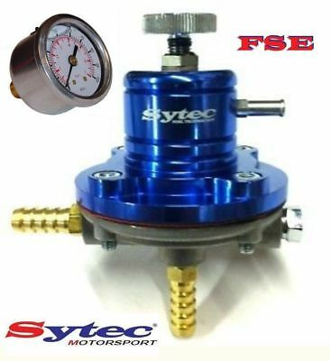 FSE Adjustable Fuel Pressure Regulator 1-5 bar Blue & Gauge Sytec SAR001