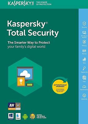 Kaspersky Total Security 2019 | 1 Device | 1year | PC/Mac/Android | DOWNLOAD