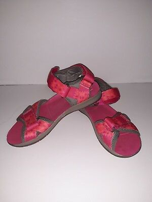 3709c0e1cca9 Merrell Girls Surf Strap 2.0 Sandals 5M Open Toe Pink Grey Select Grip Shoes