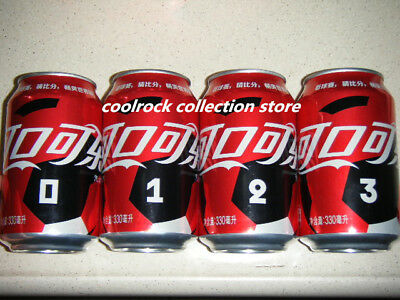 2018 China coca cola world cup 4 cans set 330ml empty