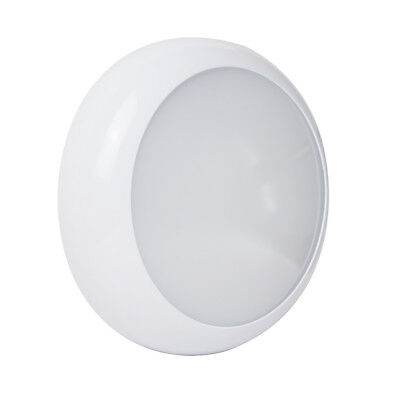 LED 2D Bulkhead 18W Round IP65 CCT Switchable Ceiling / Wall Black/White/Chrome