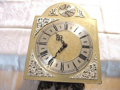 Grandfather Grandmother Weight Driven Clock Movement Chimes Chains Face Hands