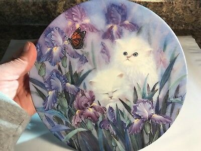 "Vintage 1992 ""Garden Discovery"" ~ Petal Pals Cat Collector Plate by Lily Chang"