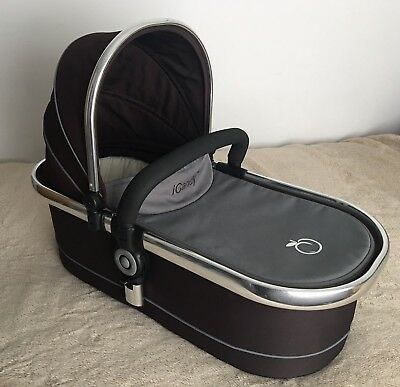 Icandy Peach Carrycot Brown And Grey With Mattress And Bar